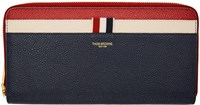 Thom Browne Tricolor Zip Around Wallet