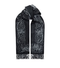 Johnstons Cashmere Paisley Scarf Grey