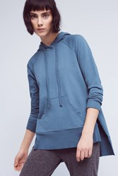 Anthropologie Bryce Hooded Pullover Blue