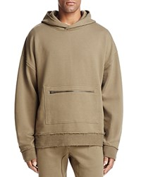 The Narrows Raw Edged Hooded Sweatshirt 100 Exclusive Olive