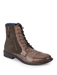 Saks Fifth Avenue Menagerie Combat Boots Brown