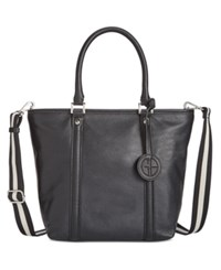 Giani Bernini Web Strap Tote Only At Macy's Black