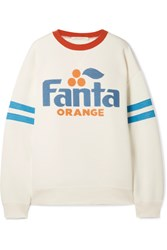 Marc Jacobs Fanta Sequined Printed Jersey Sweatshirt White Usd