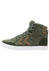 Hummel Stadil Hightop Trainers Rosin Green