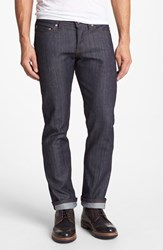Men's Naked And Famous Denim 'Weird Guy' Slim Fit Raw Jeans Stretch Selvedge