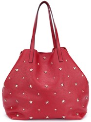 Red Valentino Star Studded Tote Women Leather One Size Red