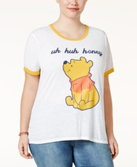 Freeze 24 7 Trendy Plus Size Winnie The Pooh Graphic T Shirt White
