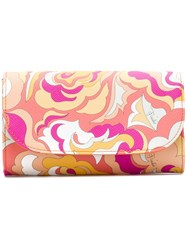 Emilio Pucci Abstract Print Flap Wallet Yellow And Orange