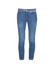 Alexander Mcqueen Raw Edge Cropped Skinny Fit Jeans Blue