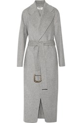 Acne Studios Lova Oversized Wool And Cashmere Blend Coat Stone