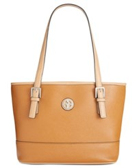 Giani Bernini Saffiano Tote Only At Macy's Rust