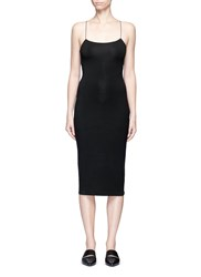 Alexander Wang Cutout Back Modal Jersey Cami Dress Black