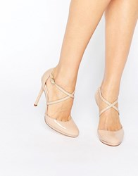 Faith Clara Nude Strappy Heeled Shoes Nude Beige
