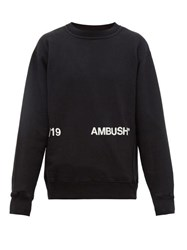 Ambush Logo Print Cotton Sweatshirt Black