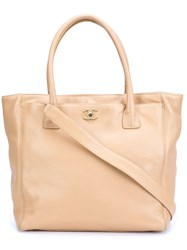 Chanel Vintage 'Executive' Tote Nude And Neutrals