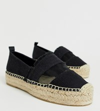 Stradivarius Mesh Panel Espadrilles In Black
