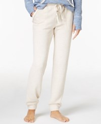 Lucky Brand Brushed Terry Pajama Jogger Pants Oatmeal