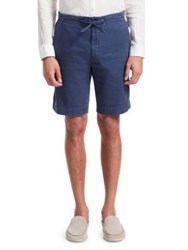 Loro Piana Stretch Drawstring Shorts Blue