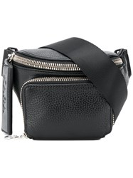 Kara Zipped Pocket Bum Bag Black