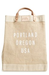 Apolis City Market Tote Brown Portland Natural