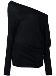 Tom Ford Off Shoulder Loose Fit Jumper Black
