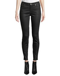 7 For All Mankind The Ankle Skinny Jeans Coated Black