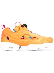 Reebok Instapump Fury Sneakers Men Nylon Rubber 7 Yellow Orange