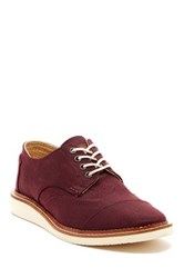 Toms Aviator Twill Wingtip Oxford Red