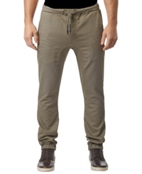 Buffalo David Bitton Zoltan X Dropped Crotch Jogger Pants Dark Beige