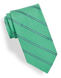 Brooks Brothers Diagonal Striped Silk Tie Green