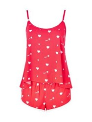Wildfox Couture Wildfox Cupid Hearts Cami Sleep Set Red