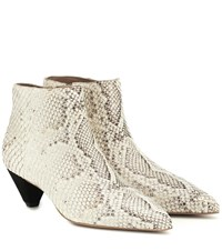 Mercedes Castillo Julienne Leather Ankle Boots Beige