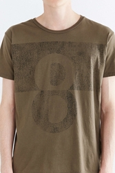 Project Social T Lucky 8 Tee Olive