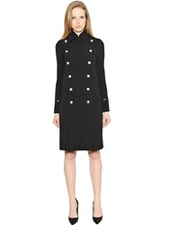 Versus Double Breasted Wool Tricotine Coat