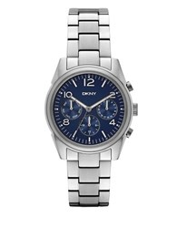 Dkny Crosby Stainless Steel Link Bracelet Chronograph Ny2470 Silver