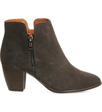 Office Justine Suede Ankle Boots Dark Grey Suede