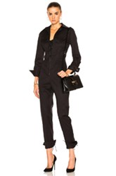 Monse Cotton Twill Jumpsuit In Black