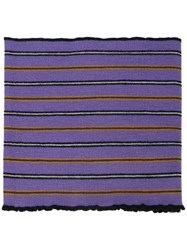 Lanvin Striped Polo Scarf Pink And Purple