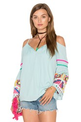 Vava By Joy Han Jubilee Cold Shoulder Top Mint
