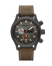 Eterno Chronograph Watch Green Brown Brera