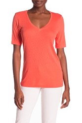 Three Dots Ray Elbow Sleeve Tee Orange