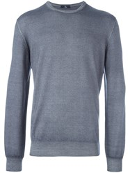 Fay Ribbed Knitted Sweater Grey