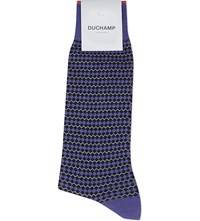Duchamp Zig Zag Socks Purple