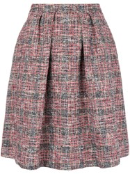Paul Smith Ps By Flared Tweed Skirt