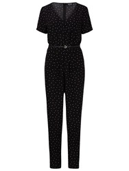 Sugarhill Boutique Greta Polka Jumpsuit Black