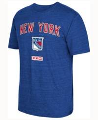 Ccm New York Rangers Stitches Needed T Shirt Blue