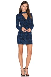 Endless Rose Long Sleeve Bodycon Dress Blue