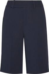 Helmut Lang Torsion Crepe Shorts Blue