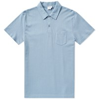 Sunspel Riviera Polo Blue