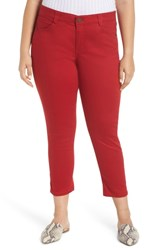 Wit And Wisdom Ab Solution Crop Skinny Pants Tomato